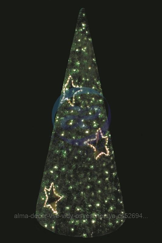 """Фигура VSC-180 """"Ель"""", LED подсветка диам. 80см выс. 180см, зеленая NEON-NIGHT"""