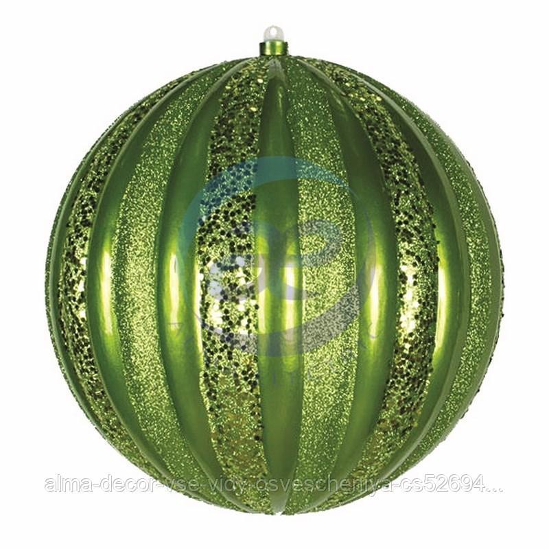"""Елочная фигура """"Арбуз"""", 30 см, цвет зеленый"""