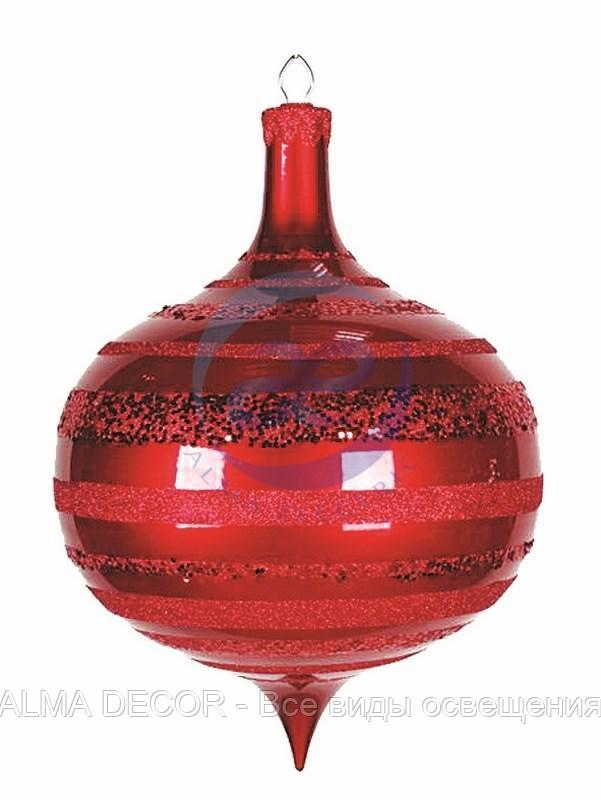 """Елочная фигура """"Юла"""", 30 см, цвет красный"""