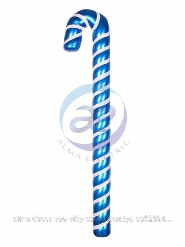 """Елочная фигура """"Карамельная палочка"""" 121 см, цвет синий/белый"""