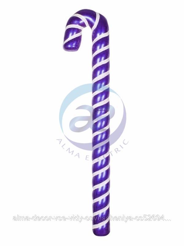 "Елочная фигура ""Карамельная палочка"" 121 см, цвет фиолетовый/белый"