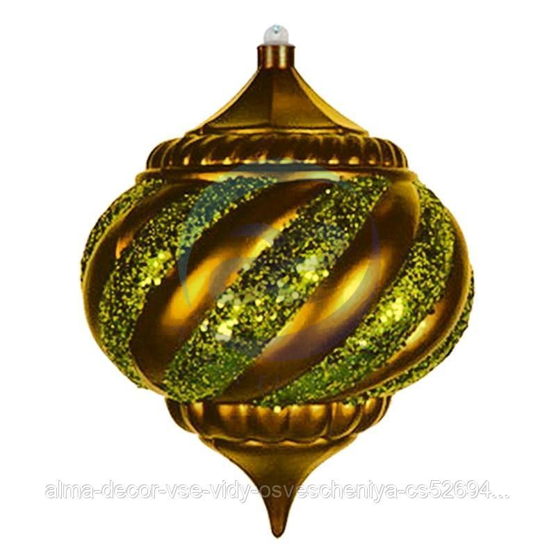 """Елочная фигура """"Лампа"""", 25 см, цвет золотой"""