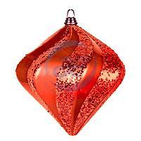 """Елочная фигура """"Алмаз"""", 15 см, цвет красный"""