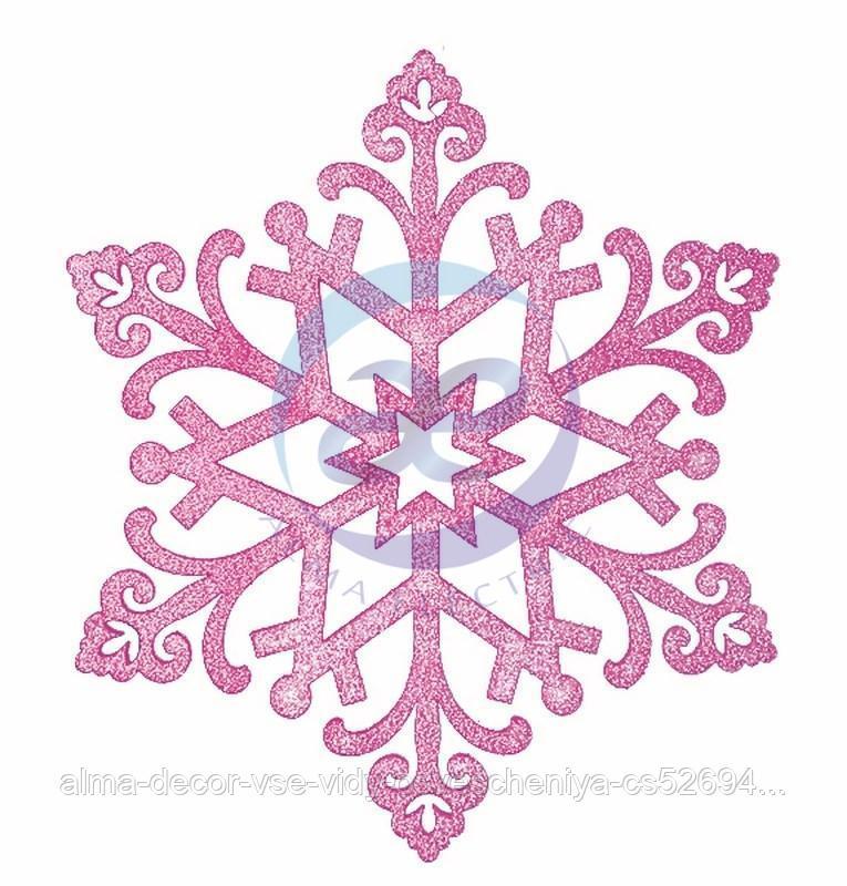 """Елочная фигура """"Снежинка """"Снегурочка"""", 82 см, цвет фиолетовый"""