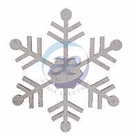 """Елочная фигура """"Снежинка классическая"""", 66 см, цвет серебряный"""
