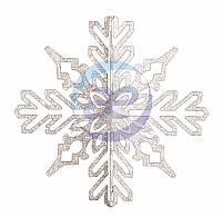 """Елочная фигура """"Снежинка ажурная 3D"""", 35 см, цвет серебряный"""