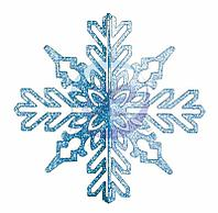 """Елочная фигура """"Снежинка ажурная 3D"""", 23 см, цвет синий"""