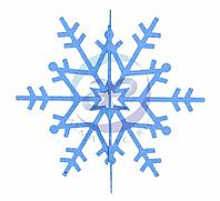 """Елочная фигура """"Снежинка резная 3D"""", 31 см, цвет синий"""