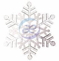 """Елочная фигура """"Снежинка резная"""", 81 см, цвет серебряный"""
