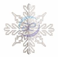 """Елочная фигура """"Снежинка ажурная 3D"""", 46 см, цвет белый"""