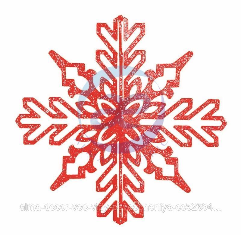 """Елочная фигура """"Снежинка ажурная 3D"""", 35 см, цвет красный"""