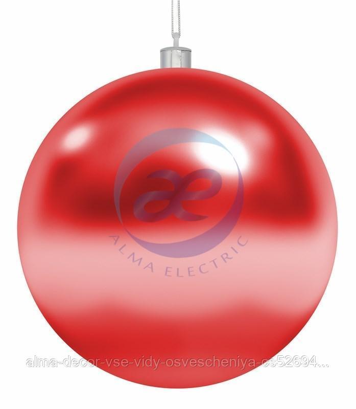 """Елочная фигура """"Шар"""", 25 см, цвет красный"""