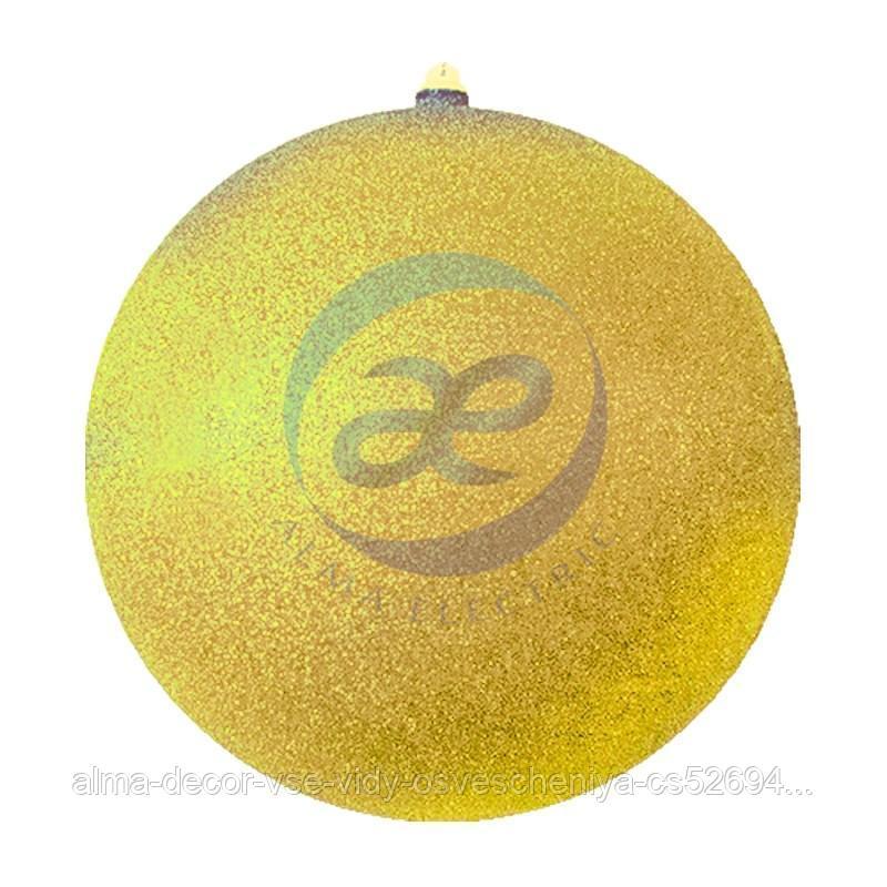 """Елочная фигура """"Шарик"""", 30 см, цвет золотой"""