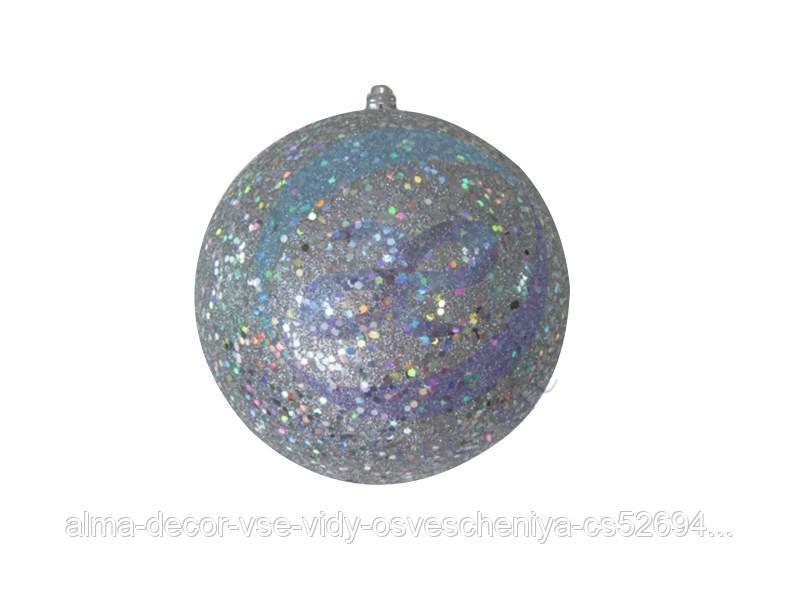 """Елочная фигура """"Шарик"""", 20 см, цвет серебряный"""