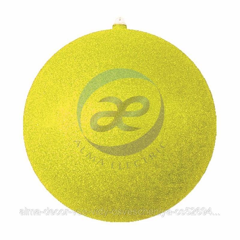 """Елочная фигура """"Шар с блестками"""", 30 см, цвет золотой"""