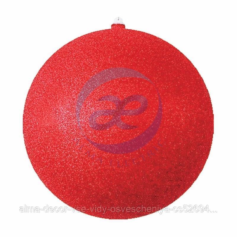 """Елочная фигура """"Шар с блестками"""", 30 см, цвет красный"""