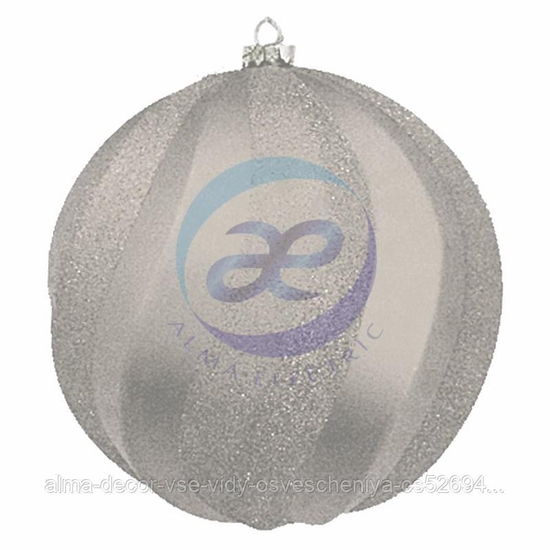"""Елочная фигура """"Шар Вихрь"""", 20 см, цвет серебряный"""