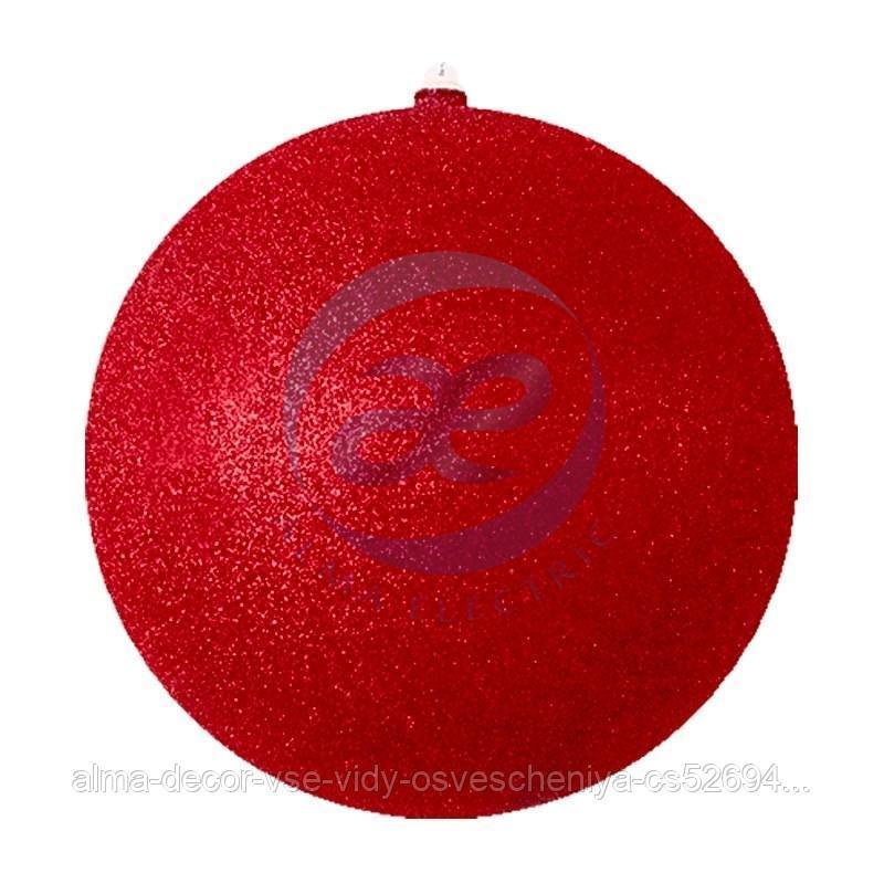"""Елочная фигура """"Шарик"""", 30 см, цвет красный"""