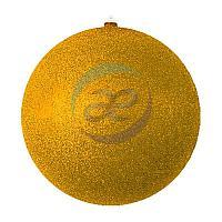 """Елочная фигура """"Шарик"""", 25 см, цвет золотой"""