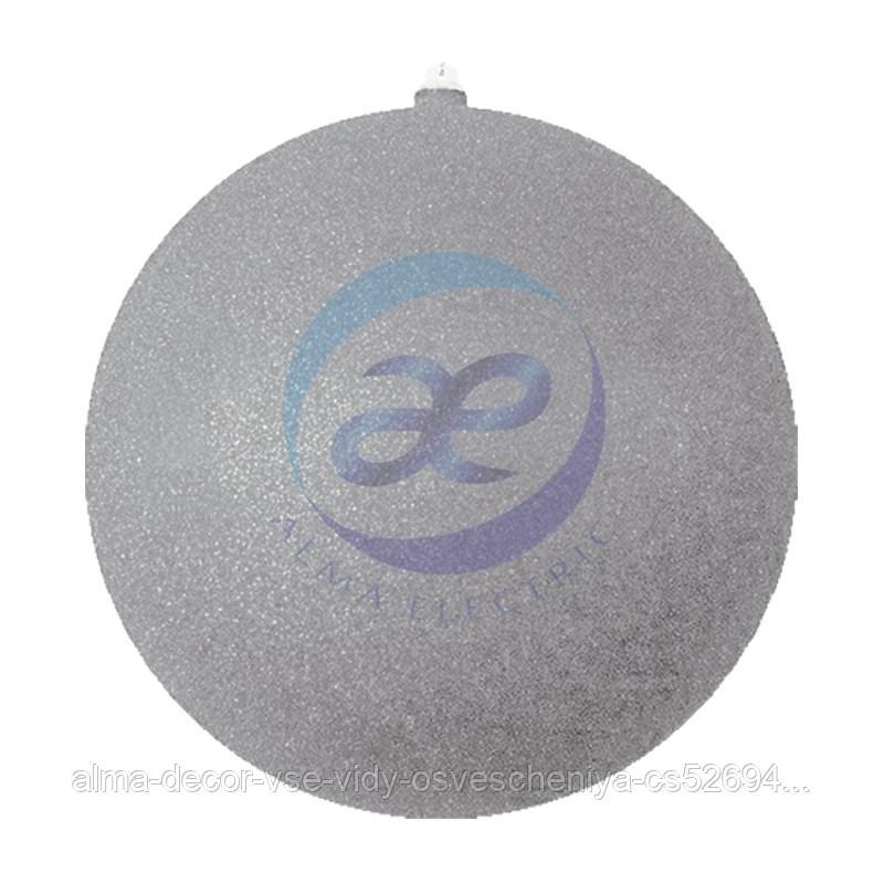 """Елочная фигура """"Шарик"""", 25 см, цвет серебряный"""