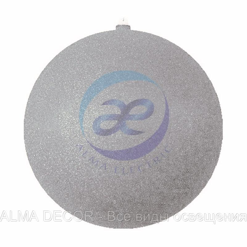 """Елочная фигура """"Шар с блестками"""", 20 см, цвет серебряный"""