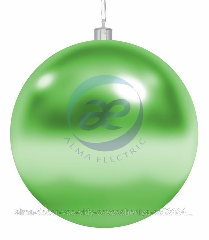 """Елочная фигура """"Шар"""", 20 см, цвет зеленый"""
