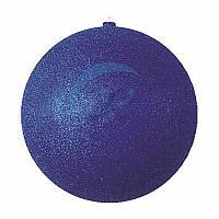 "Елочная фигура ""Шар с блестками"", 20 см, цвет синий"