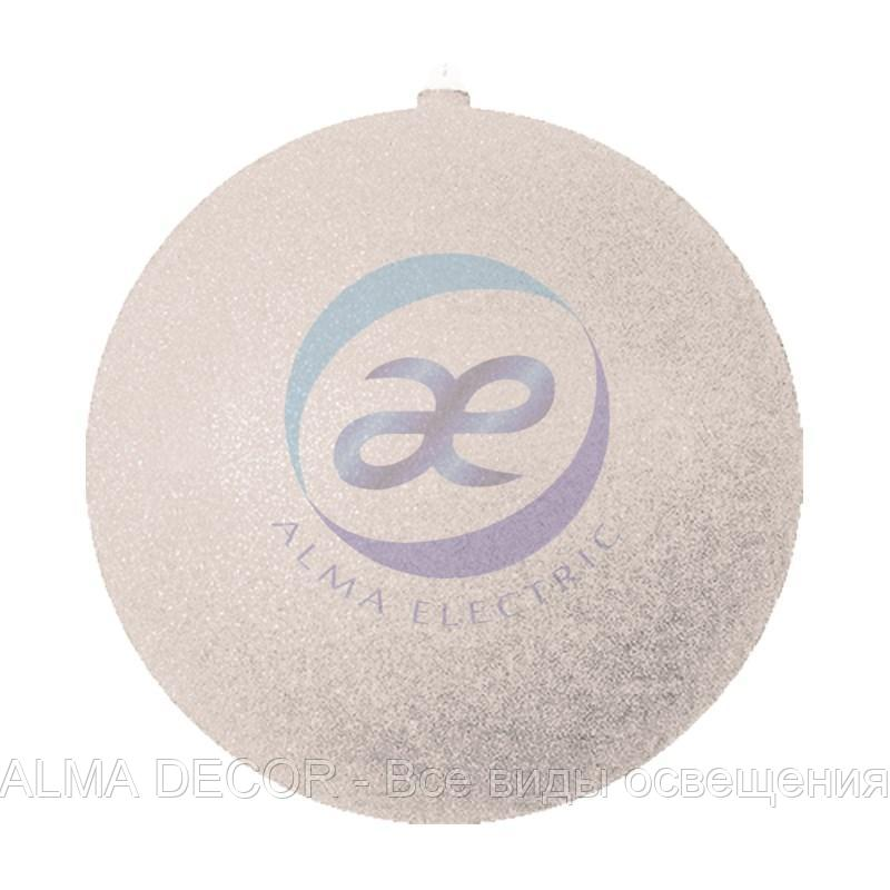 """Елочная фигура """"Шар с блестками"""", 25 см, цвет серебряный"""