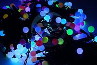 """Гирлянда """"LED ClipLight - МУЛЬТИШАРИКИ"""" 24V, 3 нити по 20 м, свечение с динамикой, цвет диодов RGB"""