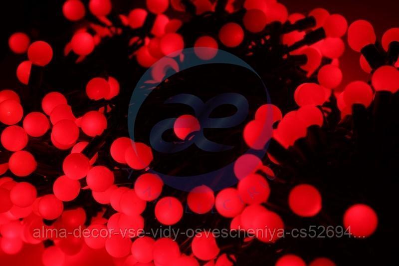 """Гирлянда """"LED ClipLight - ШАРИКИ"""" 24V, 3 нити по 20 м, цвет диодов Красный"""