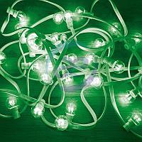 Гирлянда LED Galaxy Bulb String 10м, белый КАУЧУК, 30 ламп*6 LED ЗЕЛЕНЫЕ, влагостойкая IP65, фото 1