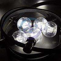 Гирлянда LED Galaxy Bulb String 10м, черный КАУЧУК, 30 ламп*6 LED БЕЛЫЕ, влагостойкая IP65, фото 1