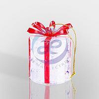 "Фигура светодиодная на подставке ""Новогодний подарок"", RGB, фото 1"