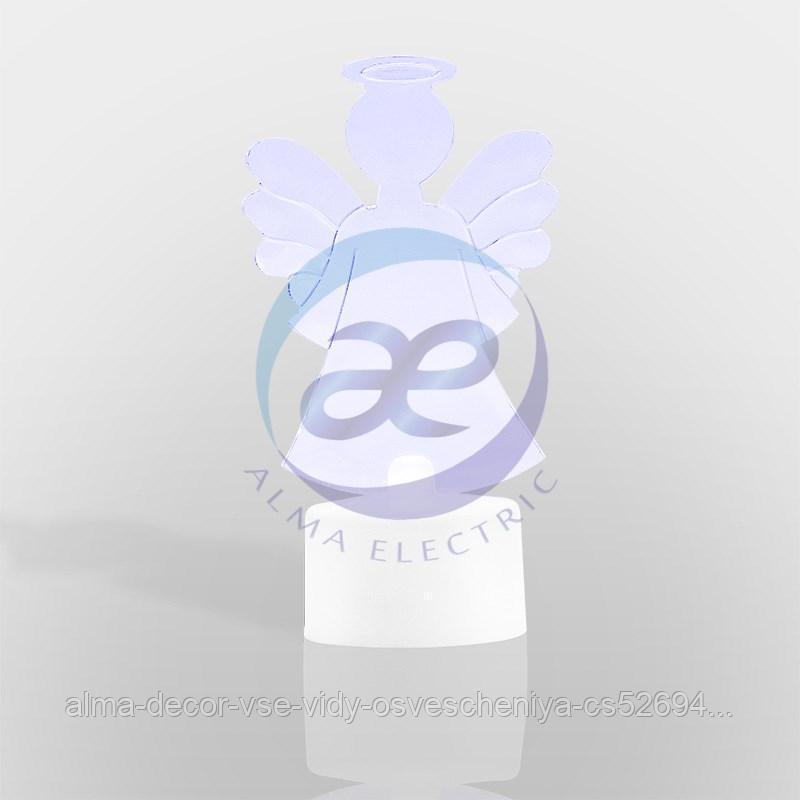 """Фигура светодиодная на подставке """"Ангел 2D"""", RGB"""
