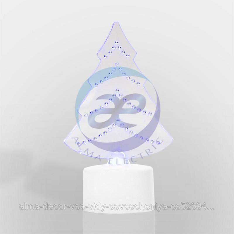 "Фигура светодиодная на подставке ""Елочка 2D"", RGB"