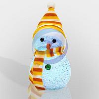 "Фигура светодиодная ""Снеговик"" 17см, RGB, фото 1"