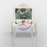 """Декоративный светильник """"Столик"""" с эффектом снегопада, подсветкой и новогодней мелодией, фото 1"""