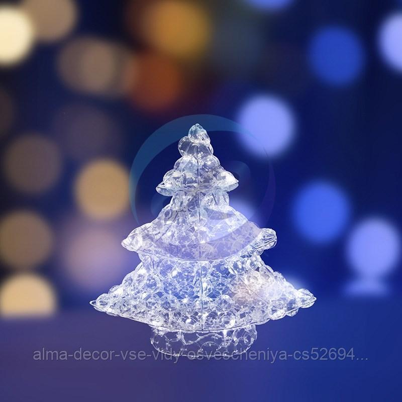 """Фигура стеклянная """"Новогодняя Ель"""" 40см, 50 светодиодов, IP44 понижающий трансформатор в комплекте, NEON-NIGHT"""