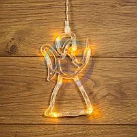 """Фигура светодиодная """"Ангелок"""" на присоске с подвесом, цвет ТЕПЛЫЙ БЕЛЫЙ, фото 1"""