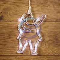 """Фигура светодиодная """"Санта Клаус"""" на присоске с подвесом, цвет белый, фото 1"""