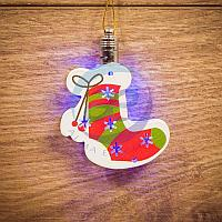 """Фигурка подвесная """"Новогодний носок"""" RGB 8*6 см, фото 1"""