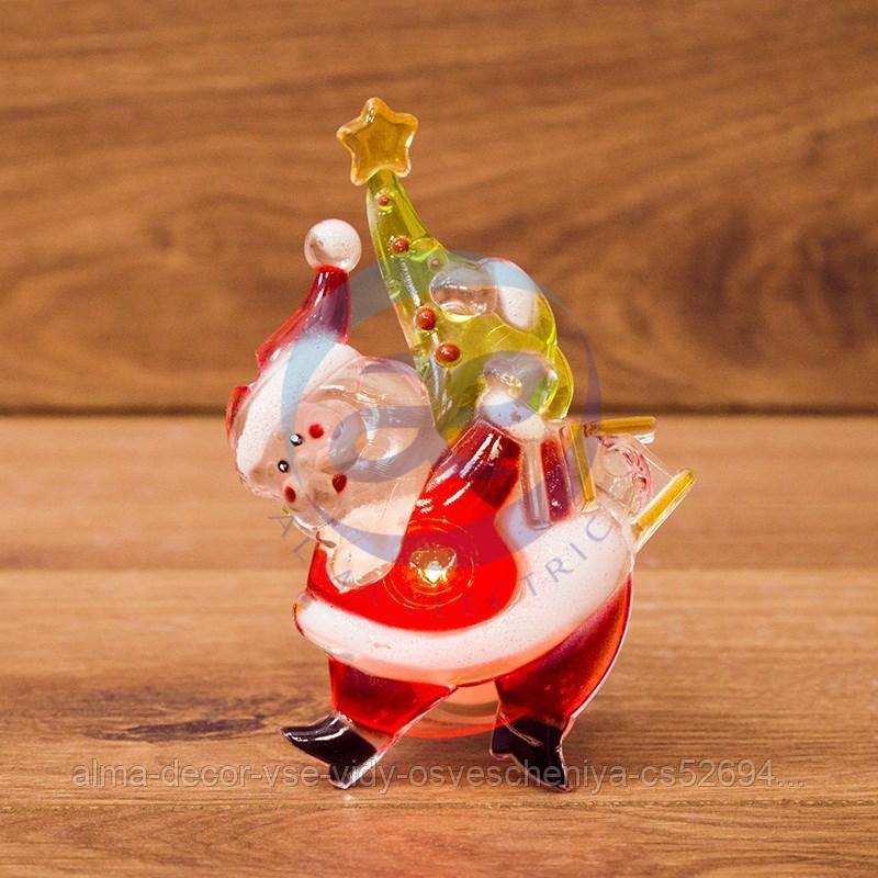 """""""Санта-Клаус с елочкой"""" RGB на присоске"""