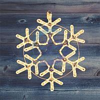 "Фигура ""Снежинка"" цвет ТЕПЛЫЙ БЕЛЫЙ, размер 55*55 см NEON-NIGHT, фото 1"
