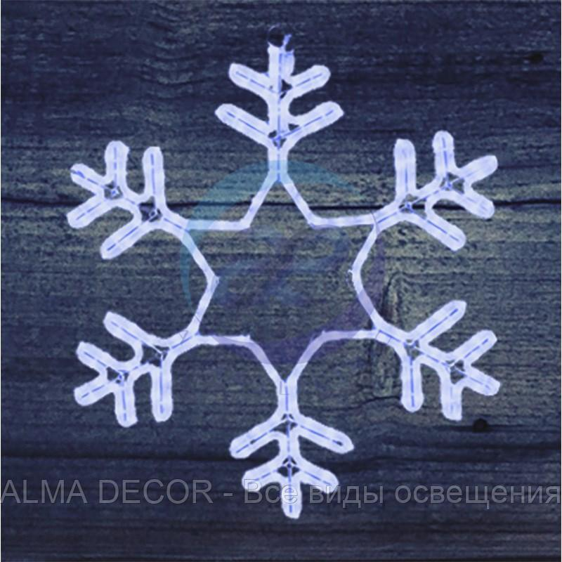 "Фигура ""Снежинка"" LED Светодиодная, без контр. размер 55*55см, ""СИНЯЯ"" NEON-NIGHT"