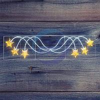 "Фигура световая ""Брызги звезд"" 360 светодиодов 24м дюралайта, размер 400*100см NEON-NIGHT"