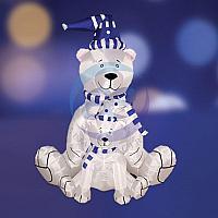 """3D фигура надувная """"Медведица с медвежонком"""", размер 180 см, внутренняя подсветка 2 лампы, компрессор с"""