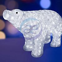"""Акриловая светодиодная фигура """"Белый медведь"""" 80*55 см, IP 44, понижающий трансформатор в комплекте,"""