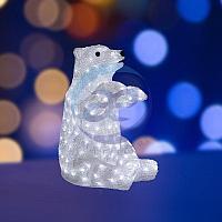 """Акриловая светодиодная фигура """"Белый медведь"""" 36х41х53 см, 200 светодиодов, IP44, понижающий трансформатор в"""