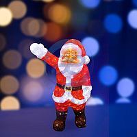 """Акриловая светодиодная фигура """"Санта Клаус приветствует"""" 60 см, 200 светодиодов, IP44 понижающий трансформатор"""