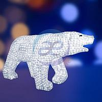 """Акриловая светодиодная фигура """"Белый медведь"""" 100х175см, 1976 светодиодов, IP 65, понижающий трансформатор в"""